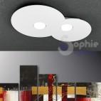 Plafoniera LED 18W pannello tondo 2 luci sostituibili design moderno minimalista