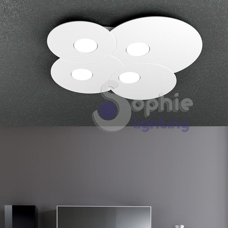 plafoniera led 36w bianca design moderno minimalista cucina