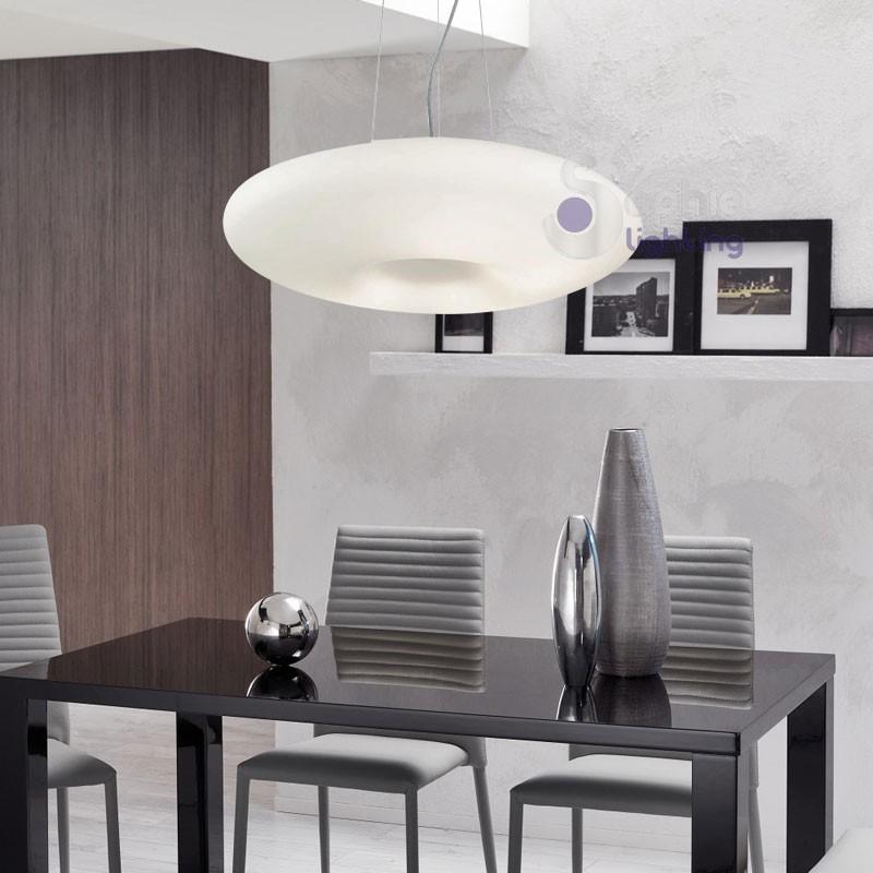 Lampadario sospensione vetro soffiato-DISCO-D60