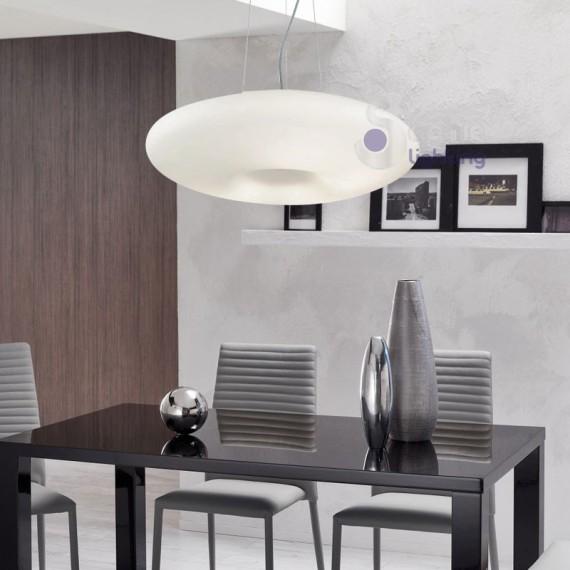 lampadario sospensione : Lampadario sospensione vetro soffiato-DISCO-D60