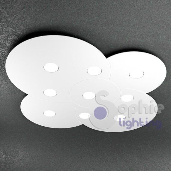 Lampadario plafoniera LED 81W pannello rotondo grande 90 ...