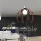 Lampadario lampada sospensione design moderno corten cromo cucina tavolo pranzo