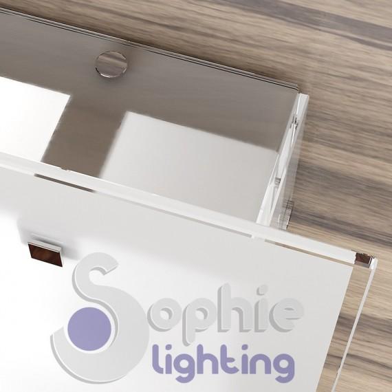 Lampadario soffitto plafoniera moderna vetro satinato bianco bagno     -> Lampadario Vetro Bianco Cucina