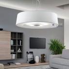 Lampadario bianco design moderno cucina-ATOLLO-D60