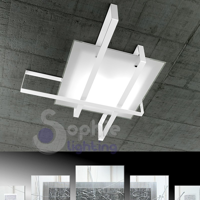 Plafoniera lampadario soffitto 99x74 design moderno - Lampadario per bagno ...