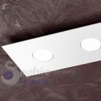Plafoniera LED slim 3,3 cm design moderno acciaio bianco mansarda tetto spiovente basso