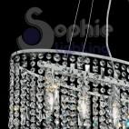 Lampadario sospensione cristalli pendenti-RAIN-SP5