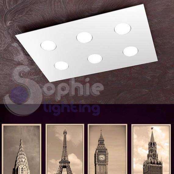 Plafoniera LED 54W sostituibili colore luce scelta ultra slim 3,3 cm soffitti bassi