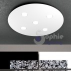 Plafoniera moderna design pannello LED altezza slim soffitto basso