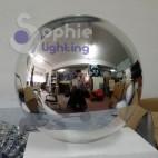 Lampadario sospensione moderno 2 sfere pendenti cromate tavolo cucina