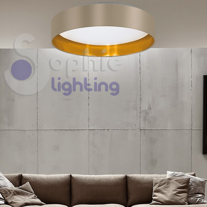 Plafoniera lampadario soffitto led 18w luce calda design moderno pa...