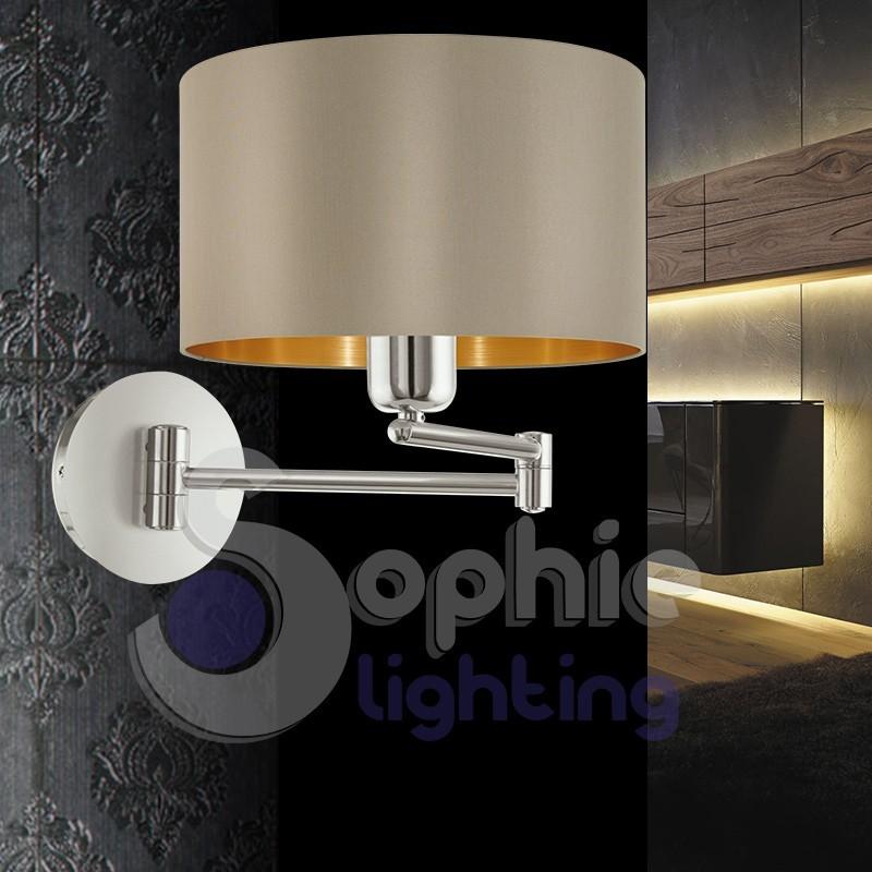 Applique lampada parete braccio regolabile design moderno - Parete camera da letto tortora ...
