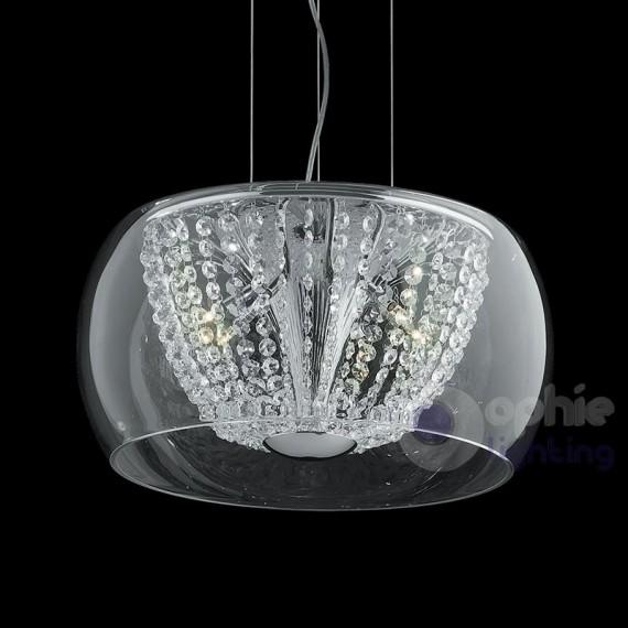 Sospensione vetro soffiato cristallo- AUDI-60-SP8