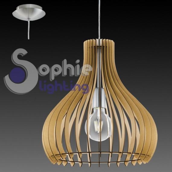 Lampadario sospensione penisola tavolo cucine design moderno acciai - Cucine legno e acciaio ...