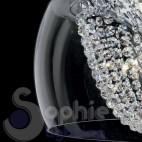 Plafoniera moderna rotonda vetro soffiato cristalli design moderno soggiorno